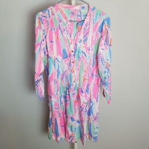 Lilly Pulitzer Sarasota Out To Sea Tunic Dress EUC